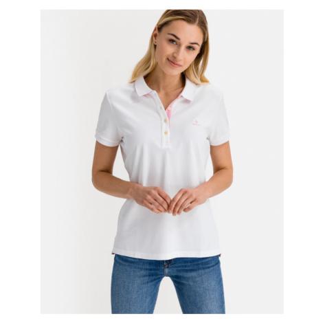 Gant Contrast Collar Polo T-Shirt Weiß