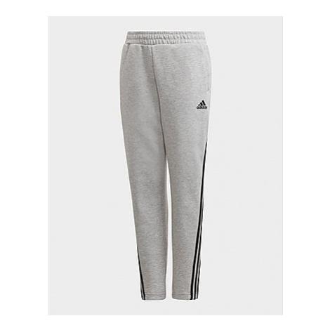 Adidas 3-Streifen Doubleknit Tapered Leg Hose - Medium Grey Heather / Black, Medium Grey Heather