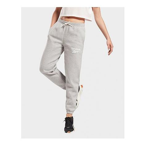 Reebok reebok identity logo fleece pants - Medium Grey Heather - Damen, Medium Grey Heather