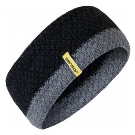 Gestrickter Stirnband Sensor black