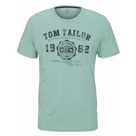 TOM TAILOR Herren T-Shirt mit Logo-Print, grün