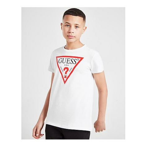 GUESS Triangle Logo T-Shirt Kinder - White - Kinder, White