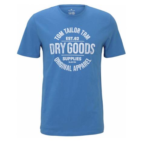 TOM TAILOR Herren T-Shirt mit Bio-Baumwolle , blau
