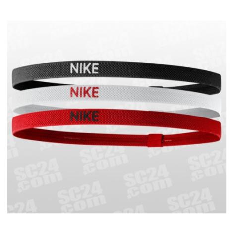 Nike Elastic Hairbands 3PK schwarz/rot Größe UNI