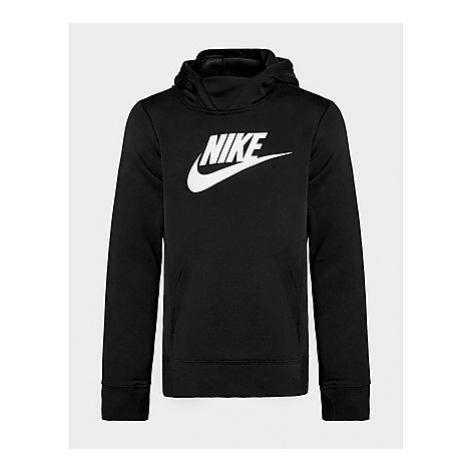 Nike Girls' Futura Overhead Hoodie Junior - Black/White, Black/White