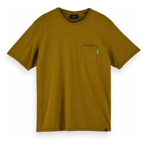 Scotch & Soda T-Shirt Men FABRIC DYED POCKET TEE 156807 Khaki 0154