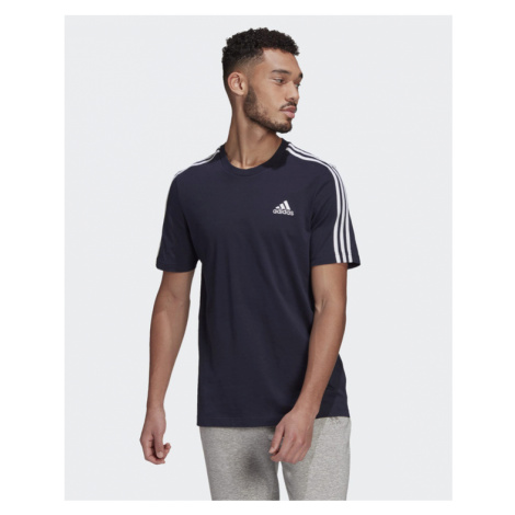 adidas Performance 3-Stripes T-Shirt Blau