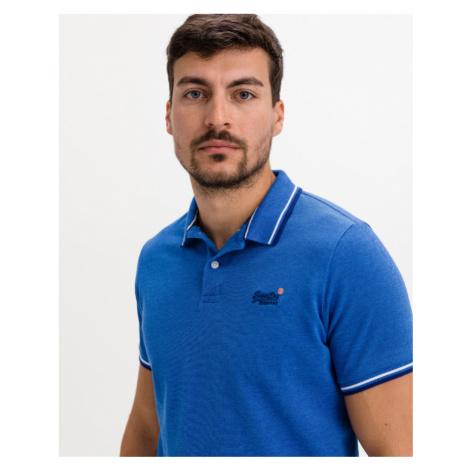 SuperDry Classic Polo T-Shirt Blau