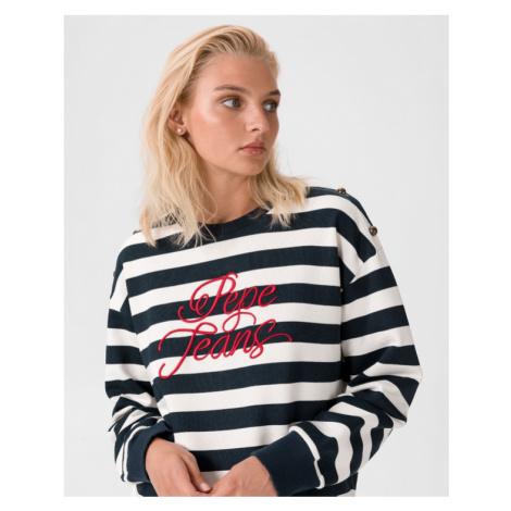 Pepe Jeans Bess Sweatshirt Blau Weiß