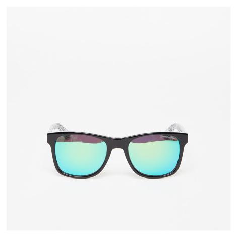 Horsefeathers Foster Sunglasses Zebra/Mirror Green