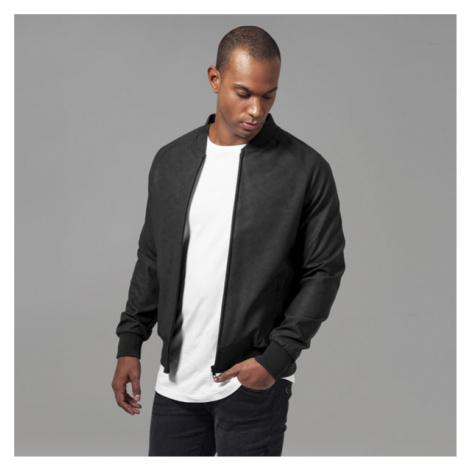 Urban Classics Imitation Leather Raglan Blouson black