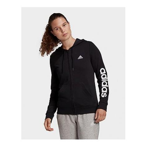 Adidas Essentials Logo Kapuzenjacke - Black / White - Damen, Black / White