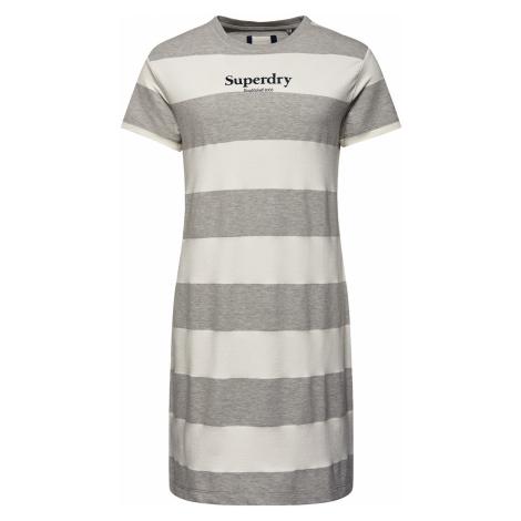 Superdry Kleid Damen DARCY STRIPED T-SHIRT DRESS Biscuit