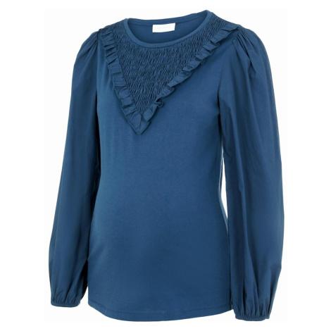 Blaue shirts, unterhemden und blusen für schwangere