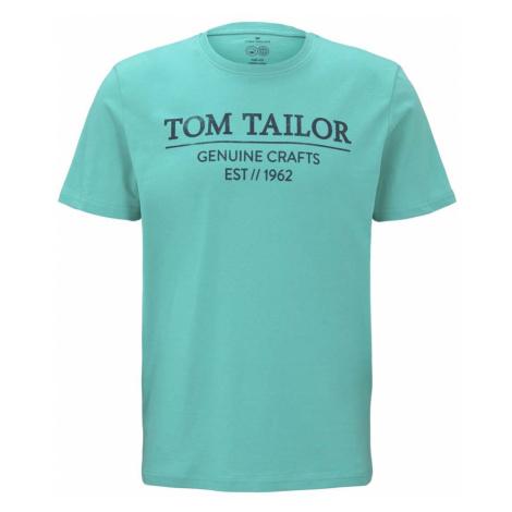 TOM TAILOR Herren T-Shirt mit Bio-Baumwolle, grün