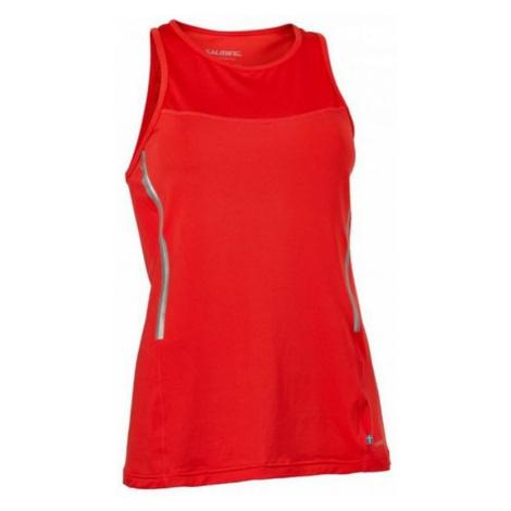 Damen Tank Top/Shirt Salming Laser Tank Women Poppy Red Melange