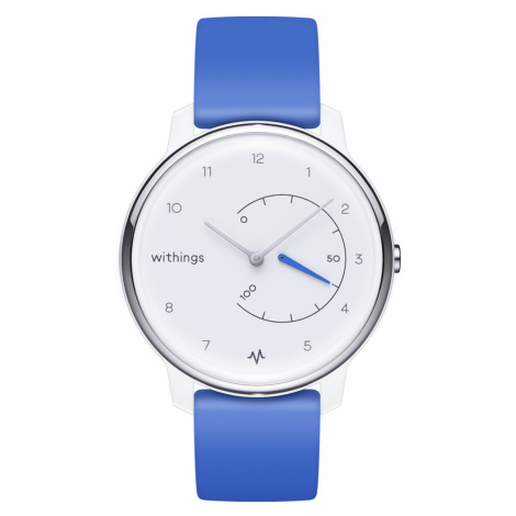 Withings Move ECG, 38mm, Weiß & Blau - Fitnessuhr mit EKG-Funktion - Offizieller Withings Shop