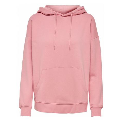 ONLY Einfarbiger Hoodie Damen Pink