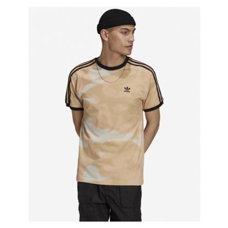 adidas Originals Camo 3-Stripes T-Shirt Beige