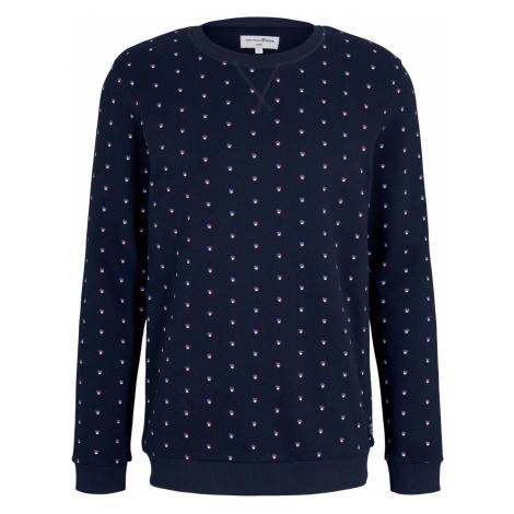 TOM TAILOR DENIM Herren gemustertes Sweatshirt, blau