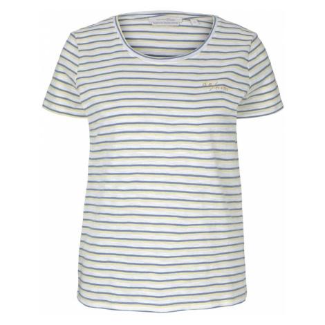TOM TAILOR DENIM Damen gestreiftes T-Shirt mit Bio-Baumwolle , blau