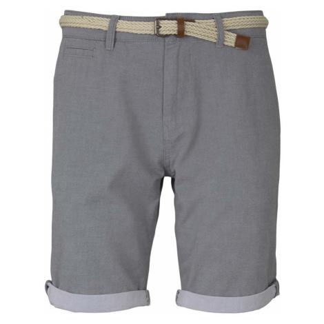 TOM TAILOR DENIM Herren Chino Shorts mit Gürtel , grau