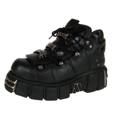 Lederschuhe Frauen - String Shoes (106-S1) Black - NEW ROCK - M.106-S1 47