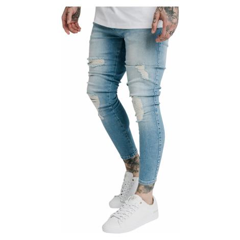 SikSilk Jeans Herren DISTRESSED SKINNY DENIMS SS-19353 Light Wash