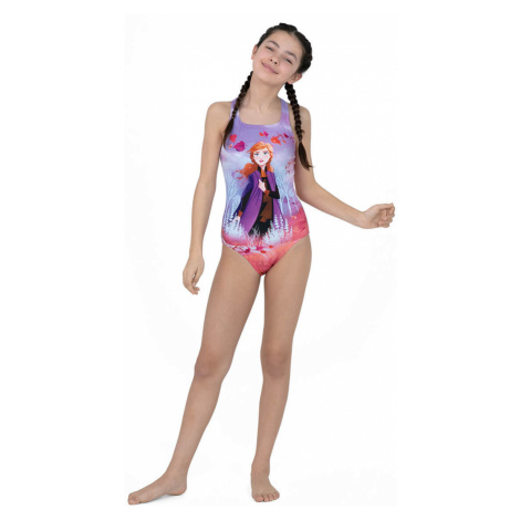 Speedo Junior Disney Frozen 2 Anna Digital Medalist Badeanzug, Rosa