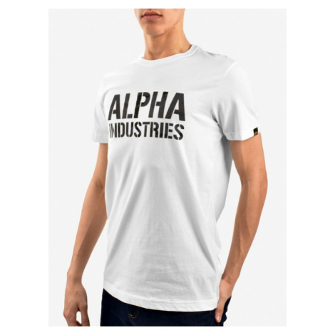 Herren T-Shirt Alpha Industries Camo Print Tee White