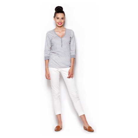Damen T-Shirts M289 grey Figl