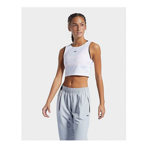 Reebok les mills perforated crop-top - White - Damen, White