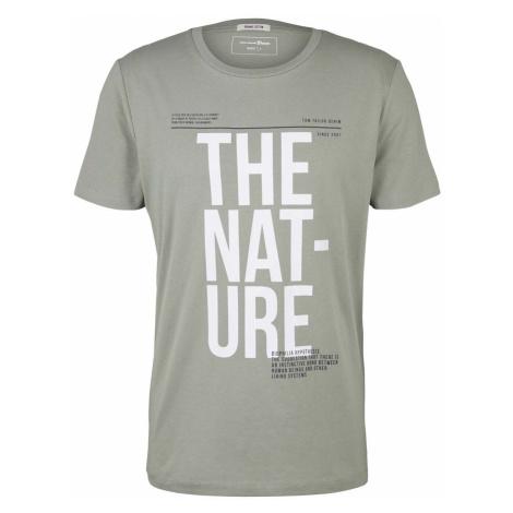TOM TAILOR DENIM Herren T-Shirt mit Bio-Baumwolle, grün