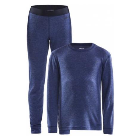 Set CRAFT Merino 180 JR 1907878-360200 dark  blue