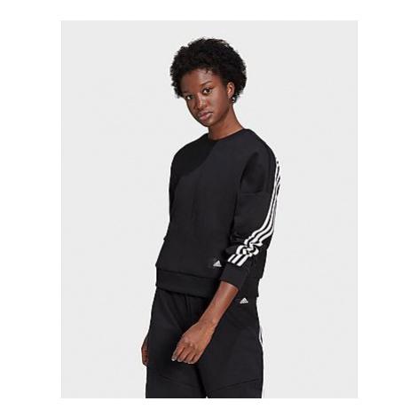 Adidas Sportswear Wrapped 3-Streifen Sweatshirt - Black / White - Damen, Black / White