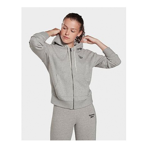 Reebok reebok identity zip-up track jacket - Medium Grey Heather - Damen, Medium Grey Heather
