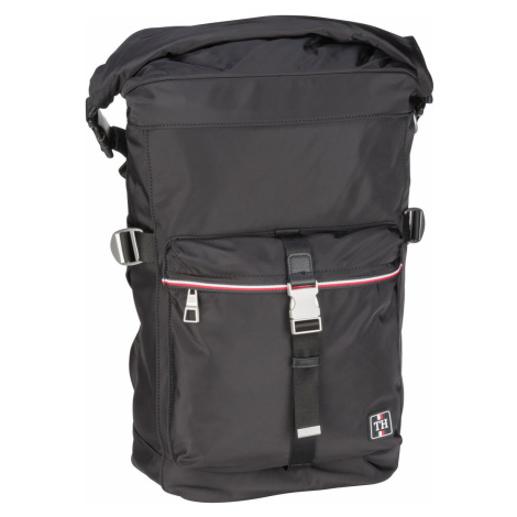 Tommy Hilfiger Kurierrucksack Urban Nylon Rolltop Backpack SP21 Black (25 Liter)