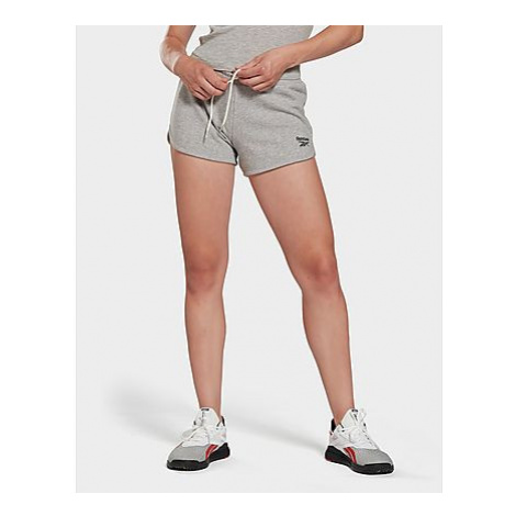 Reebok reebok identity french terry shorts - Medium Grey Heather - Damen, Medium Grey Heather