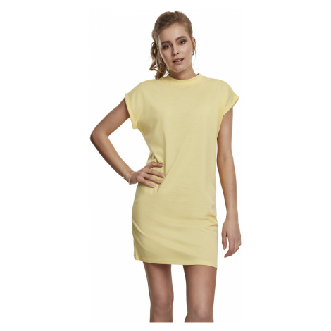Urban Classics Kleid Damen LADIES TURTLE EXTENDED SHOULDER DRESS TB1910 Gelb Vintagesun
